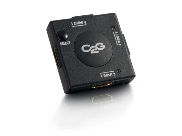 C2G 3-Port HDMI Auto Switch - Video/Audio-Schalter - 3 x HDMI - Desktop