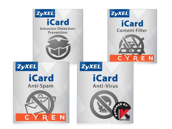 Zyxel E-iCard Content Filtering+Anti-Spam and Kaspersky AV+IDP - URL-Datenbankaktualisierung - Abonnement - 1 Jahr - für Zyxel USG210