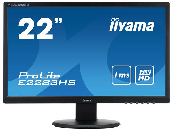 Iiyama ProLite E2283HS - LED-Monitor - 54.6 cm (21.5