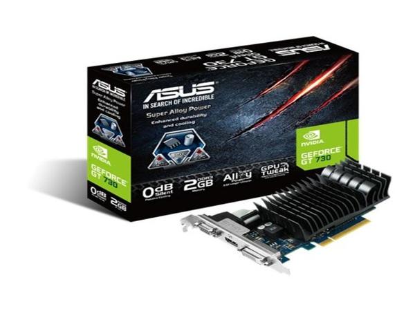 ASUS GT730-SL-2GD3-BRK - Grafikkarten - GF GT 730 - 2 GB DDR3 - PCIe 2.0 Low Profile - DVI, D-Sub, HDMI