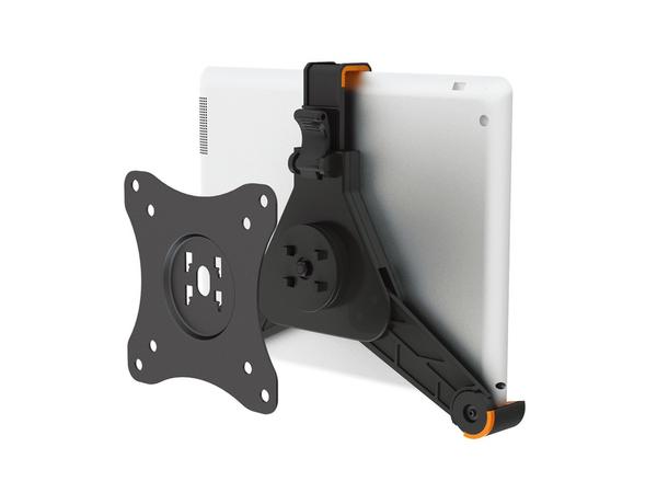 NewStar TABLET-UN100BLACK - Befestigungskit (Adapterplatte, anpassbare Halterung) für Tablett - Schwarz - oberflächenmontierbar
