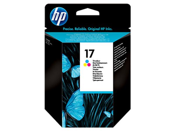HP 17 - 15 ml - Farbe (Cyan, Magenta, Gelb) - Original - Tintenpatrone - für Deskjet 816c, 825c, 825cvr, 840, 840c, 841c, 842c, 843c, 843cxe, 845c, 845cvr