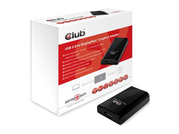 Club 3D SenseVision - Videokonverter - USB 3.0 - Schwarz