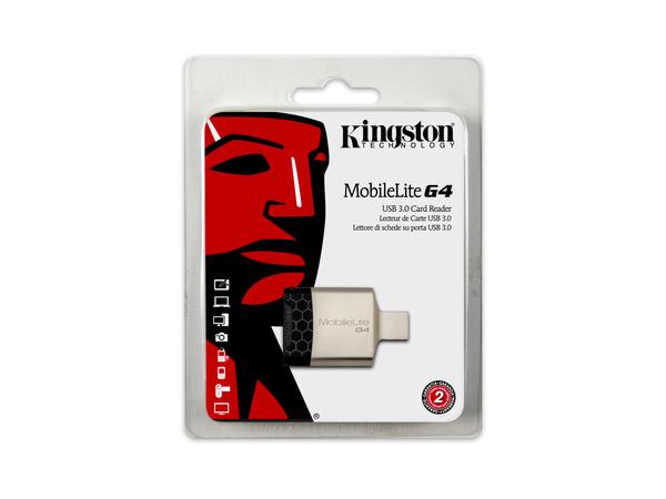 Kingston MobileLite G4 - Kartenleser (SD, microSD, SDHC, microSDHC, SDXC, microSDXC, SDHC UHS-I, SDXC UHS-I, microSDHC UHS-I, microSDXC UHS-I, SDHC UHS-II, SDHC UHS-II) - USB 3.0