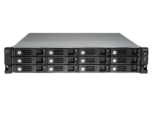 QNAP UX-1200U-RP - Festplatten-Array - 12 Schächte (SATA-600) x 0 - USB 3.0 (extern) - Rack - einbaufähig