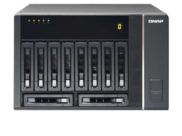 QNAP REXP-1000 Pro - Speichergehäuse - 10 Schächte (SATA-600 / SAS-2)