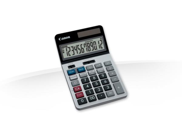 Canon KS-1220TSG - Desktop-Taschenrechner - 12 Stellen - Solarpanel, Batterie - Silber