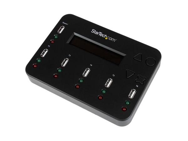 StarTech.com 1:5 Standalone USB 2.0  Stick Duplizierer und Eraser - Flash Drive Kopierer - USB-Disk-Duplikator - 5 Schächte