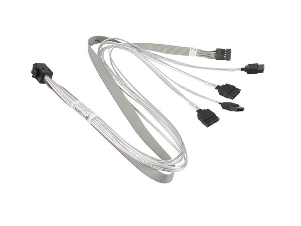 Supermicro - Internes SAS-Kabel - mit Sidebands - 4x Mini SAS HD (SFF-8643) (M) bis SATA, Seitenband (W) - 50 cm