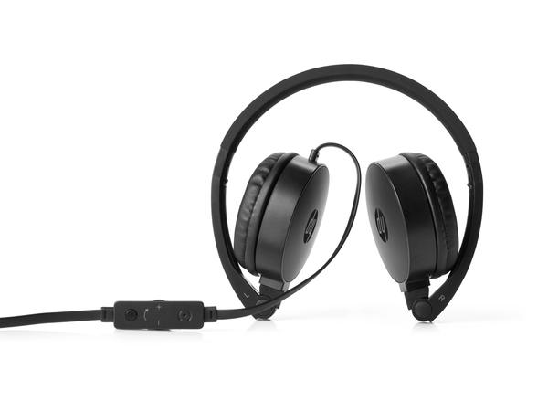 HP H2800 - Kopfhörer mit Mikrofon - On-Ear - 3,5 mm Stecker - Schwarz - für Slimline; Spectre x360; x360