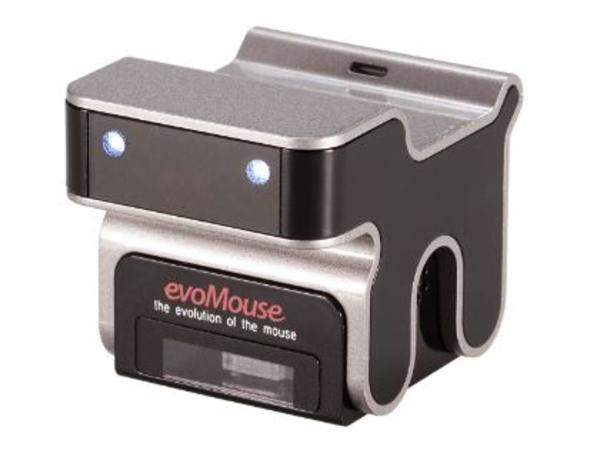 Quinta evoMouse - Maus - Laser - verkabelt - USB - Silber mit Schwarz