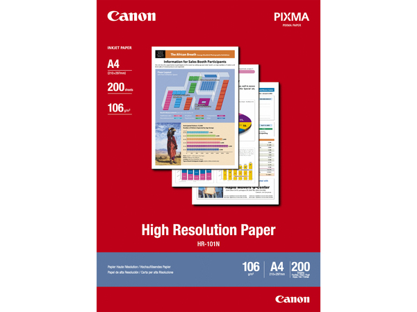 Canon HR-101 - Paper - coated - A4 (210 x 297 mm) 200 Blatt - für BJ-S520; PIXMA IP4000, iP6210, iP6310, iP8500, MG2555, MG8250, MP110, MP130, MP750, MP780