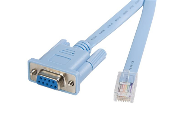 StarTech.com Cisco console router cable - RJ45 (m) - DB9 (f) - 6 ft - Kabel seriell - RJ-45 (M) bis DB-9 (W)
