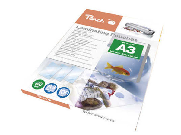 Peach - 100er-Pack - glänzend - A3 (297 x 420 mm) Taschen für Laminierung