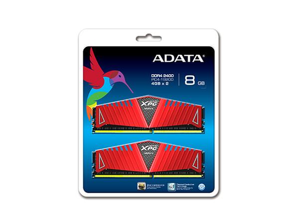 ADATA XPG Z1 Series - DDR4 - 8 GB: 2 x 4 GB - DIMM 288-PIN - 2400 MHz / PC4-19200 - CL16 - 1.2 V - ungepuffert - nicht-ECC