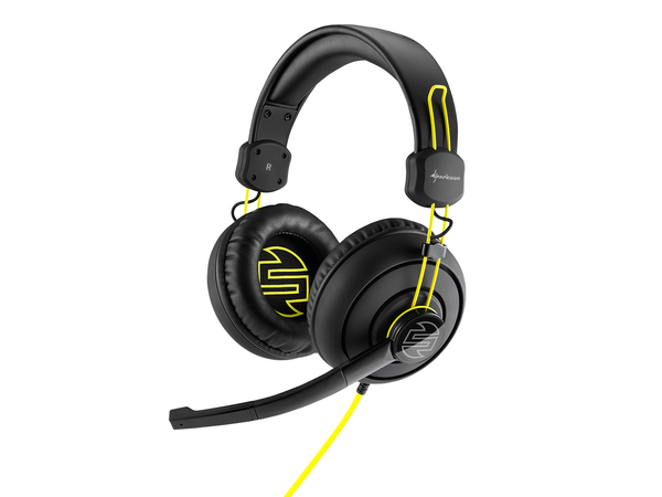 Sharkoon SHARK ZONE H10 - Headset - Full-Size - Schwarz/Gelb