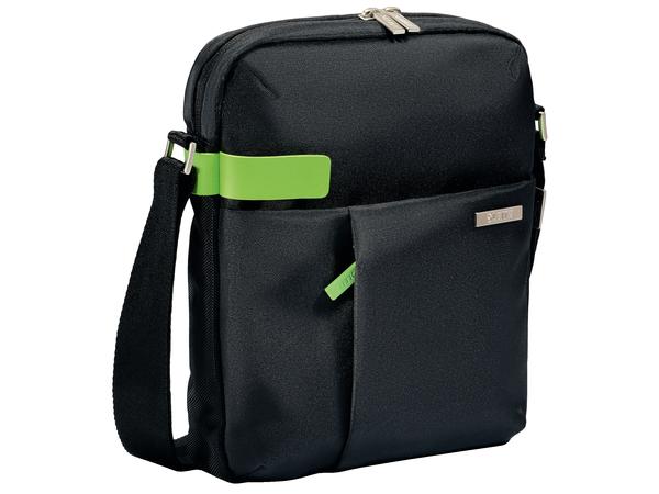 Leitz Complete Tablet Smart Traveller - Schultertasche für Tablet / eBook-Reader - Metall, Polyester - Schwarz