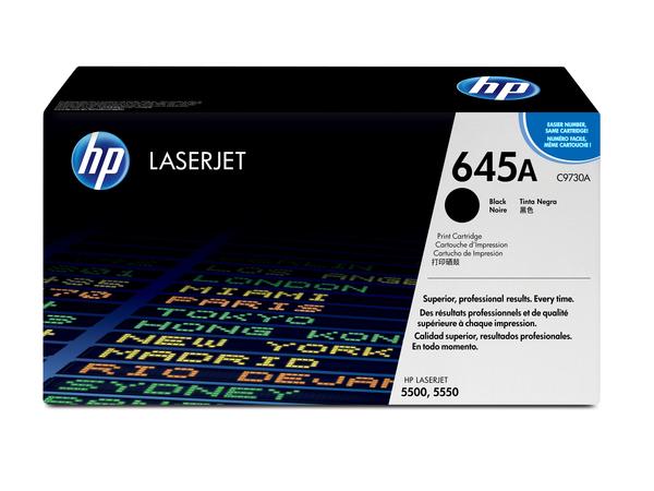 HP 645A - Schwarz - Original - LaserJet - Tonerpatrone (C9730A) - für Color LaserJet 5500, 5550