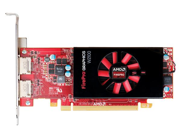 AMD FirePro W2100 - Grafikkarten - FirePro W2100 - 2 GB DDR3 - PCIe 3.0 x8 Low Profile - 2 x DisplayPort