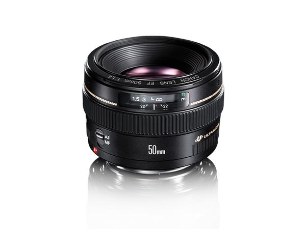 Canon EF - Objektiv - 50 mm - f/1.4 USM - Canon EF - für EOS 1000, 1D, 50, 500, 5D, 7D, Kiss F, Kiss X2, Kiss X3, Rebel T1i, Rebel XS, Rebel XSi
