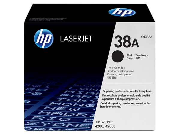 HP 38A - Schwarz - Original - LaserJet - Tonerpatrone (Q1338A) - für LaserJet 4200, 4200dtn, 4200dtns, 4200dtnsl, 4200L, 4200Ln, 4200n, 4200tn