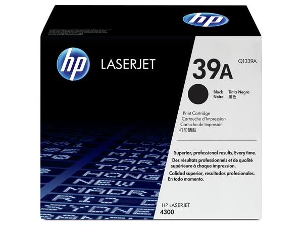 HP 39A - Schwarz - Original - LaserJet - Tonerpatrone (Q1339A) - für LaserJet 4300, 4300dtn, 4300dtns, 4300dtnsl, 4300n, 4300tn