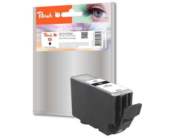 Peach C5 - 26 ml - Schwarz - Tintenpatrone (Alternative zu: Canon PGI-5BK) - für Canon PIXMA iP3500, iP4500, iP5300, MP510, MP520, MP610, MP810, MP960, MP970, MX700, MX850