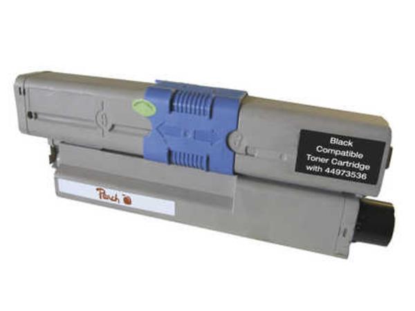 Peach 111649, Schwarz, OKI, - OKI C 301 DN - OKI C 321 DN - OKI MC 332 DN - OKI MC 340 Series - OKI MC 342 DN - OKI MC 342 DNW, 1 Stück(e), Lasertoner, 2200 Seiten