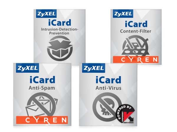 Zyxel E-iCard Content Filtering+Anti-Spam and Kaspersky AV+IDP - URL-Datenbankaktualisierung - Abonnement - 1 Jahr - für Zyxel USG1100; ZyWALL 1100