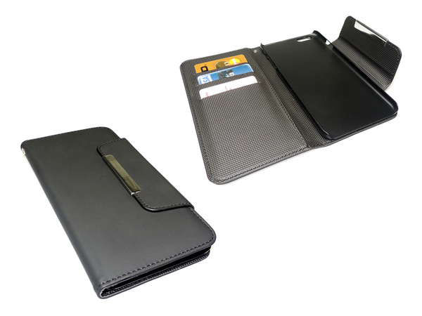 Sandberg Flip Wallet - Flip-Hülle für Mobiltelefon - Schwarz - für Apple iPhone 6 Plus