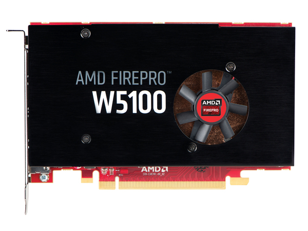 AMD FirePro W5100 - Grafikkarten - FirePro W5100 - 4 GB GDDR5 - PCIe 3.0 x16 - 4 x DisplayPort