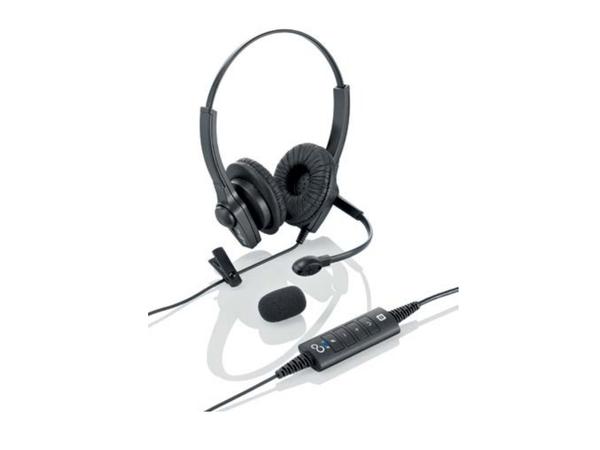 Fujitsu - Headset - On-Ear - Schwarz - für CELSIUS Mobile H970; ESPRIMO D556, D757, D757/E94, D957, D957/E94, P556, P957, Q520, Q956