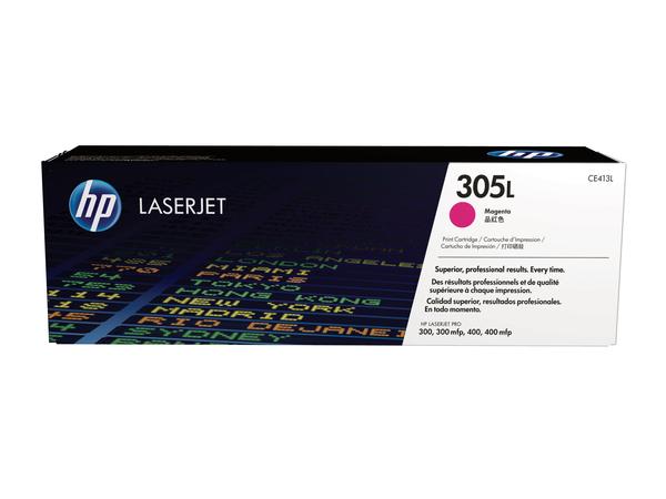 HP 305L - Economy - Magenta - Original - LaserJet - Tonerpatrone (CE413L) - für LaserJet Pro 400 M451dn, 400 M451dw, 400 M451nw, MFP M375nw, MFP M475dn, MFP M475dw
