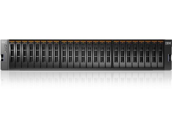 Lenovo Storwize V3700 SFF Dual Control Enclosure - Festplatten-Array - 24 Schächte (SAS-2) x 0 - SAS 6Gb/s, iSCSI (1 GbE) (extern) - Rack - einbaufähig