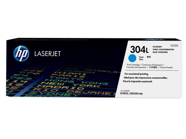 HP 304L - Economy - Cyan - Original - LaserJet - Tonerpatrone (CC531L) - für Color LaserJet CM2320fxi, CM2320n, CM2320nf, CP2025, CP2025dn, CP2025n, CP2025x