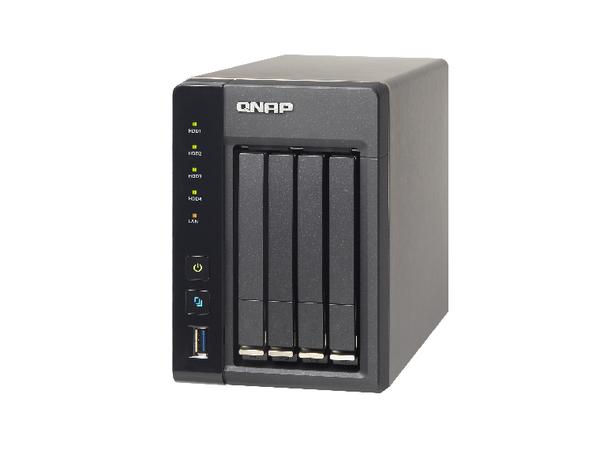 QNAP TS-453S Pro - NAS-Server - 4 Schächte - SATA 6Gb/s - RAID 0, 1, 5, 6, 10, JBOD, 5 Hot Spare - Gigabit Ethernet