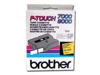 Brother TX651 - Laminiertes Band - Schwarz auf Gelb - Rolle (2,4 cm x 15 m) 1 Rolle(n) - für P-Touch PT-7000, PT-8000