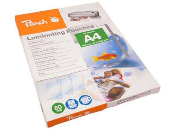Peach - 100er-Pack - glänzend - A4 (210 x 297 mm) Taschen für Laminierung
