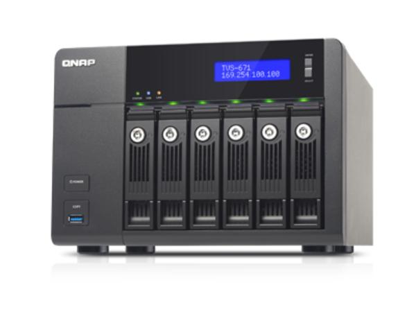 QNAP TVS-671 - NAS-Server - 6 Schächte - SATA 6Gb/s - RAID 0, 1, 5, 6, 10, JBOD, 5 Hot Spare - Gigabit Ethernet