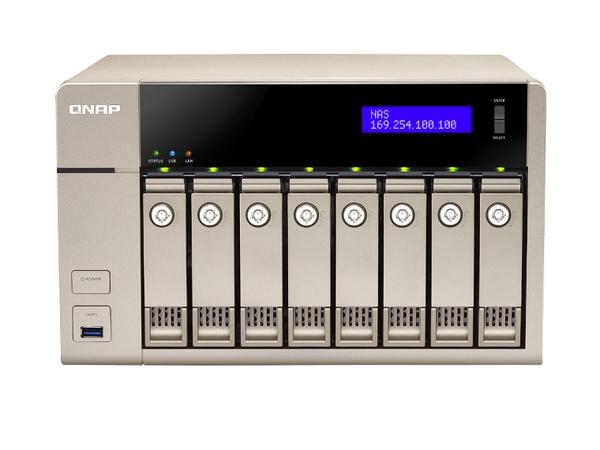 QNAP TVS-863 Turbo NAS - NAS-Server - 8 Schächte - SATA 6Gb/s - RAID 0, 1, 5, 6, 10, 5 Hot Spare, 6 Hot Spare, 10-Hot-Spare - Gigabit Ethernet