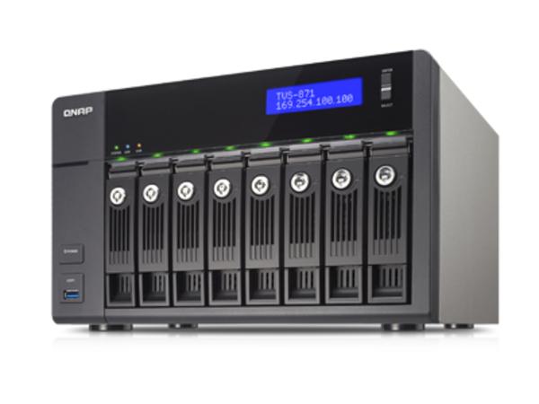 NAS QNAP TVS-871-i3-4G     4GB/3.5GHz 8-Bay