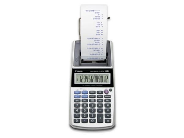Canon P1-DTSC - Druckrechner - LCD - 12 Stellen - Batterie, Wechselstromadapter, Speichersicherungsbatterie - Silver Metallic