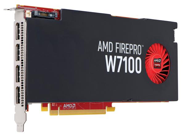 AMD FirePro W7100 - Grafikkarten - FirePro W7100 - 8 GB GDDR5 - PCIe 3.0 x16 - 4 x DisplayPort