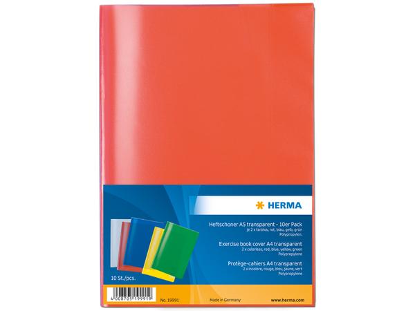 HERMA 19991, Blau, Grün, Grau, Rot, Gelb, Polypropylene (PP), 10 Stück(e)