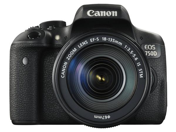 Finanzierung  Canon EOS 750D - Digitalkamera - High Definition - SLR - 24.2 Mpix - 7.5 x optischer Zoom EF-S 18-135mm IS STM-Objektiv