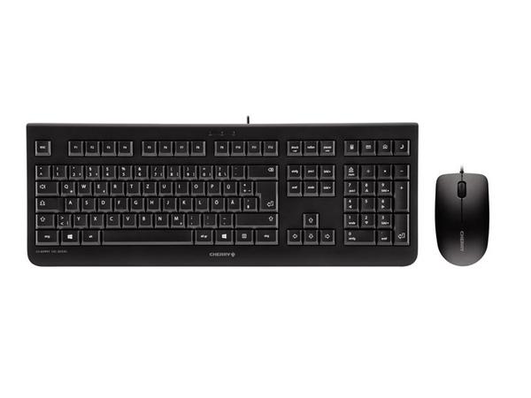 CHERRY DC 2000 - Tastatur-und-Maus-Set - USB - Deutschland - Schwarz