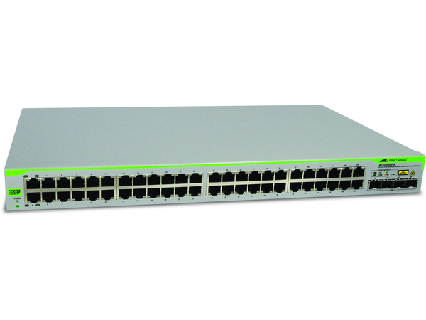Allied Telesis AT GS950/48 WebSmart Switch - Switch - verwaltet - 48 x 10/100/1000 + 4 x Shared SFP - Desktop