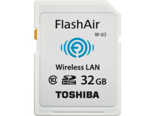 SD Card  32GB Toshiba SDHC FlashAir W-03/Wireless Class10 retail
