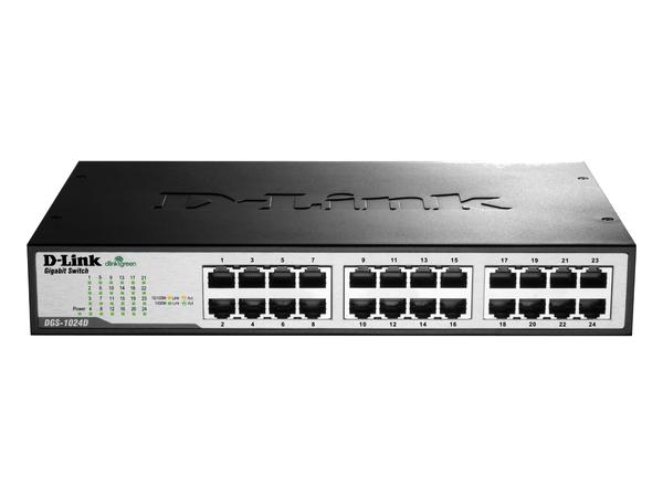 D-Link DGS 1024D - Switch - 24 x 10/100/1000 - Desktop