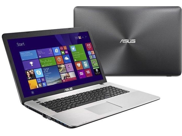 Finanzierung Laptop ASUS X751LX-T4048H - Core i7 5500U / 2.4 GHz - Windows 8.1 64-Bit - 8 GB RAM - 1 TB HDD ( 24 GB SSD-Cache) - DVD SuperMulti